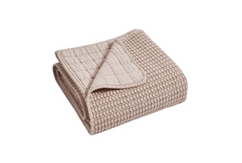 Waffle Quilted Throw Blush