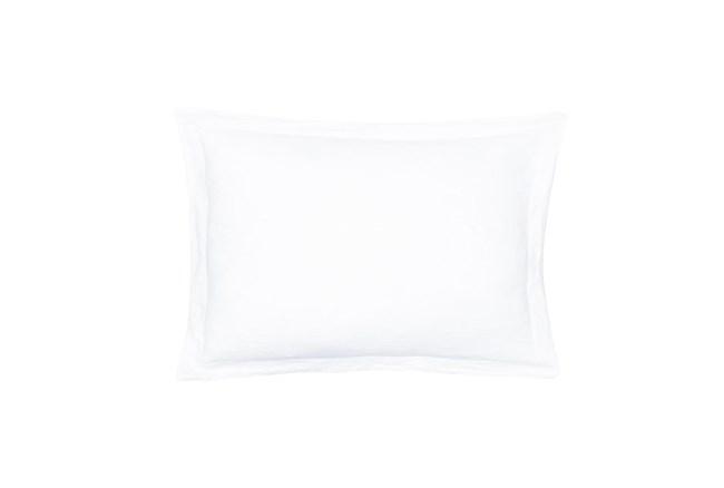 Standard Sham Washed Linen with Flange, White - 360