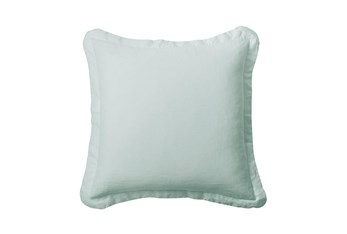 Euro Sham Washed Linen, Spa Blue