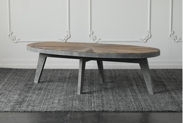 Natural Reclaimed Elm + Antique Grey Coffee Table