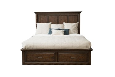 Channing Brown Queen Panel Bed With Storage