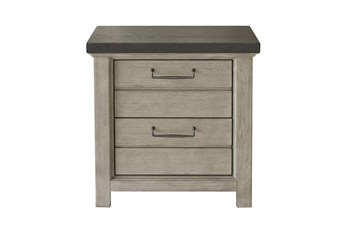 Fran Grey Nightstand With USB
