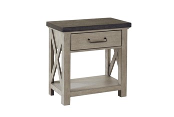 Fran Grey Open Nightstand With USB