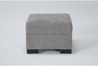 Carbondale Light Grey Ottoman