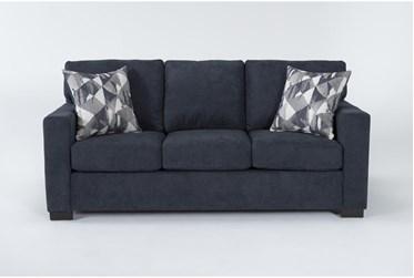 "Carbondale Blue 84"" Sofa"