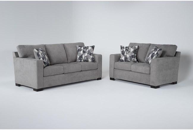 Carbondale Light Grey 2 Piece Living Room Set With Queen Sleeper - 360