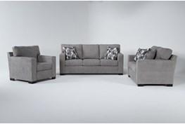 Carbondale Light Grey 3 Piece Living Room Set