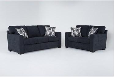 Carbondale Blue 2 Piece Living Room Set