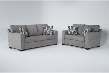 Carbondale Light Grey 2 Piece Living Room Set