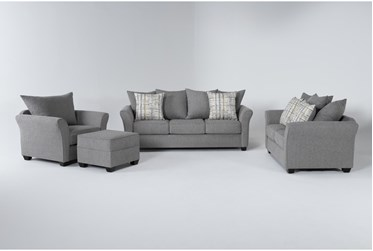 Salsalito Stone 4 Piece Living Room Set With Queen Sleeper