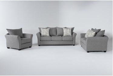 Salsalito Stone 3 Piece Living Room Set