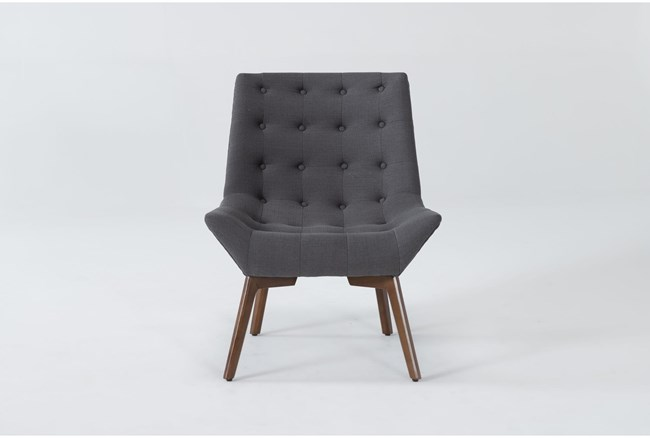 Shelly Charcoal Accent Chair - 360
