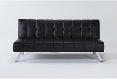 "Sawyer Black 66"" Convertible Sofa Bed"