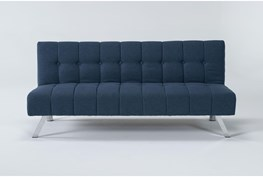 "Sawyer Blue 66"" Convertible Sofa Bed"