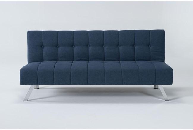 "Sawyer Blue 66"" Convertible Sofa Bed - 360"