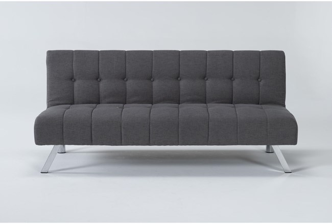 "Sawyer Grey 66"" Convertible Sofa Bed - 360"