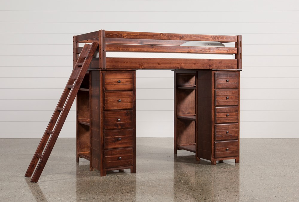 Sedona Loft Bed With 2 Chests + Ladder