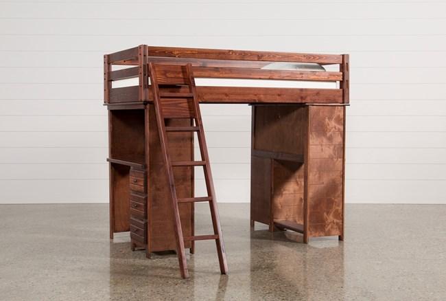 Sedona Loft Bed With 2 Desks + Ladder - 360