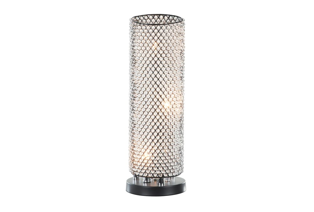 "19"" Crystal Table Lamp"