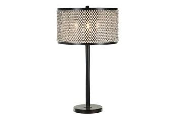 """27.5"""" Crystal Shade Table Lamp"""