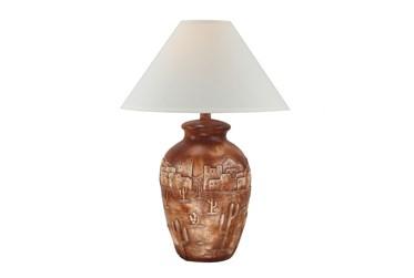 "30"" Terracotta Hydrocal Desert Table Lamp"