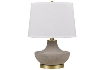 """19.5"""" Ceramic Table Lamp With Linen Shade"""