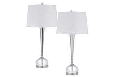 """30"""" Crystal Table Lamp Set Of 2"""