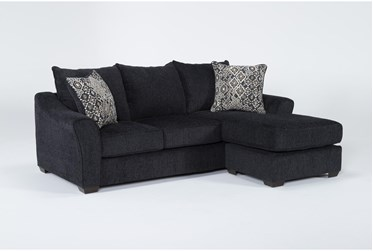 """Atwater Navy 88"""" Sofa With Reversible Chaise"""