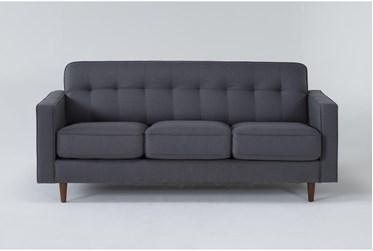"London Dark Grey 80"" Queen Sleeper Sofa With Memory Foam Mattress"