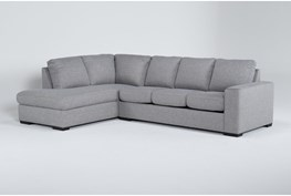 Lucy Grey Sleeper Sectional With Left Arm Facing And Memory Foam Mattress