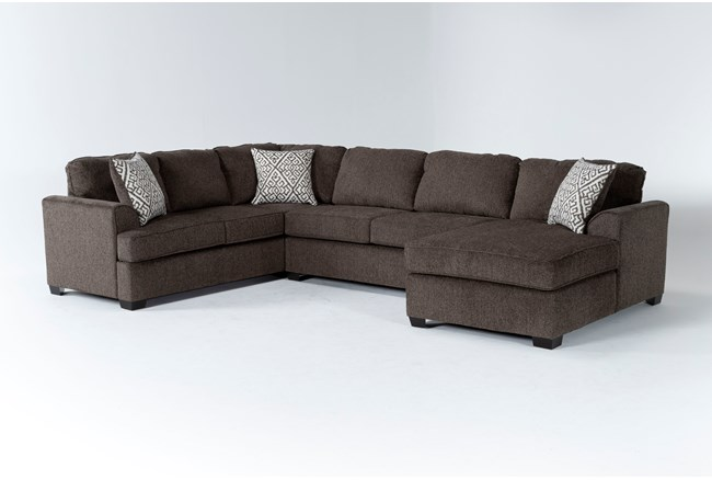 """Taylor Earth 141"""" 3 Piece Sectional With Left Arm Facing Chaise - 360"""