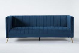 "Margherita 82"" Navy Blue Sofa"