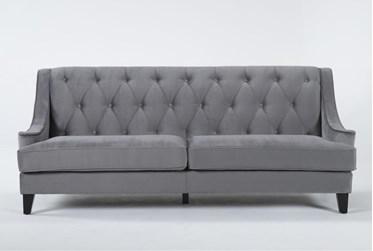"""Marsala 85"""" Dark Grey Sofa"""