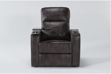 Sortino Brown Home Theater Power Recliner With Table