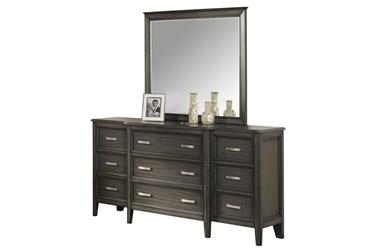 Ramsey 4 Piece Queen Bed Set W/Dresser, Mirror + Nightstand