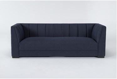 "Palermo 90"" Blue Sofa"