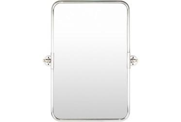 "30""X24"" Rectangle Silver Frame Wall Mirror"