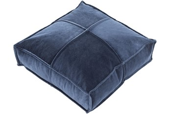 """24""""X24"""" Navy Velvet Floor Pillow"""