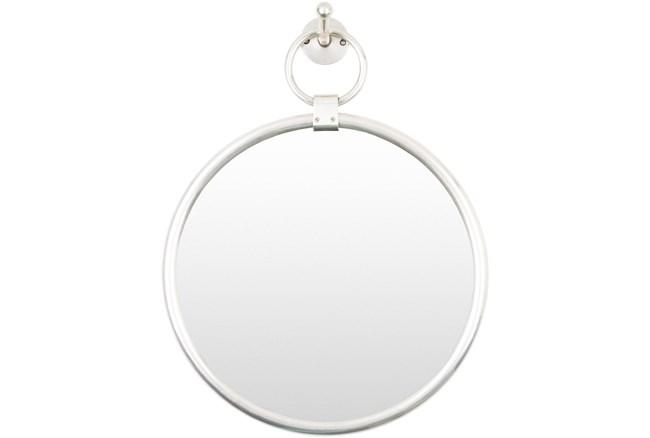 "18""X14"" Round Globes Silver Frame Wall Mirror - 360"