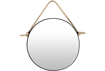 "24""X24"" Round Metal Wall Mirror"