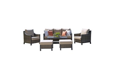 Palermo Outdoor 4 Piece Sofa Set