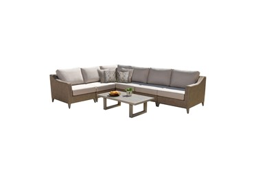 Portofino Outdoor Sectional And Coffee Table Set