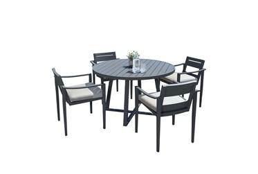 Riviera Outdoor 5 Piece Round Dining Set