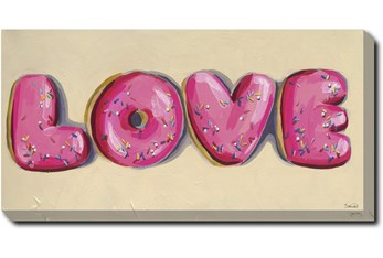 24X48 Donut Love With Gallery Wrap Canvas