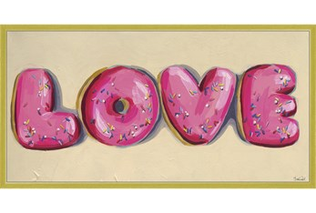 24X48 Donut Love With Gold Frame