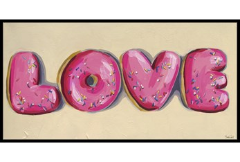 27X54 Donut Love With Black Frame