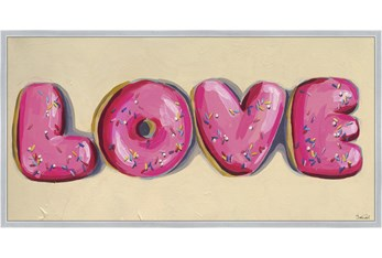 27X54 Donut Love With Silver Frame