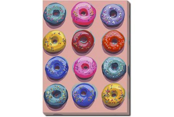 30X40 Dozen Donuts Ii With Gallery Wrap Canvas