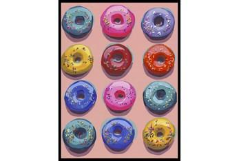 30X40 Dozen Donuts Ii With Black Frame