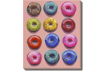 20X24 Dozen Donuts I With Gallery Wrap Canvas